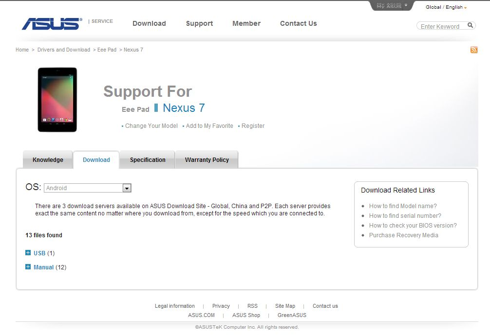nexus7 usb driver download from asus image